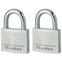 Master Lock Vorhängeschloss 2 Stk. Aluminium 40 mm 9140EURT