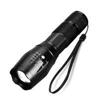 Wasserdichte Zoombare Led-taschenlampe - Schwarz