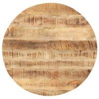 vidaXL Tischplatte Massivholz Mango Rund 25-27 mm 80 cm
