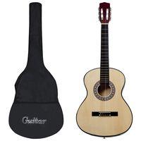 """vidaXL 12-tlg. Klassische Gitarre für Anfänger 4/4 39"""""""