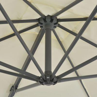 vidaXL Ampelschirm mit Aluminium-Mast 250 x 250 cm Sandfarben