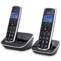Fysic Senior DECT Telefon FX-6020 2 Stk. Schwarz und Silber