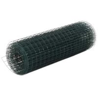 vidaXL Drahtzaun Stahl mit PVC-Beschichtung 25x0,5 m Grün