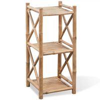Bambus Regal 3-etagig viereckig