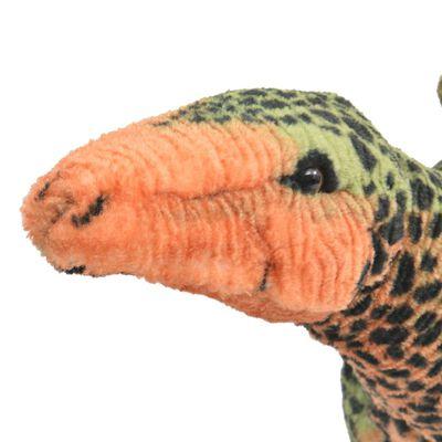 vidaXL Stehendes Plüschspielzeug Stegosaurus Grün und Orange XXL