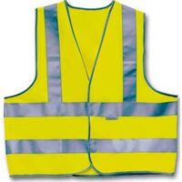 Warnweste drei Streifen Unisex Gelb Größe XL