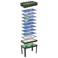 vidaXL 15-in-1 Multigame-Tisch 121×61×82 cm Schwarz