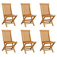 vidaXL Klappbare Gartenstühle 6 Stk. Massivholz Teak