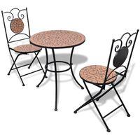 vidaXL 3-tlg. Bistro-Set Keramik Terrakotta