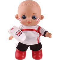 fußball Babypuppe mit Make-up Engeland20 cm