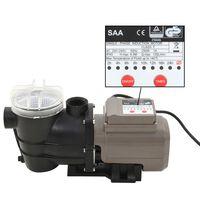 vidaXL Poolpumpe mit Timer Schwarz 0,25 PS 8000 L/h
