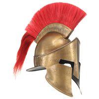 vidaXL Griechischer Krieger-Helm Antik Replik LARP Messing Stahl