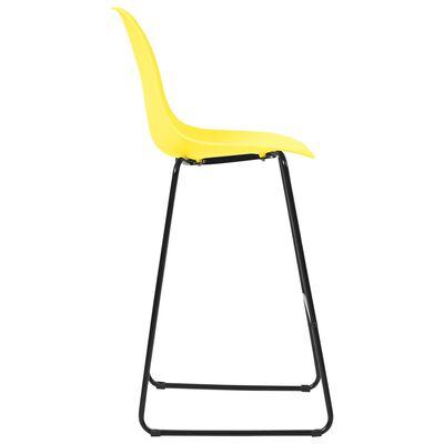 vidaXL 3-tlg. Bar-Set Kunststoff Gelb
