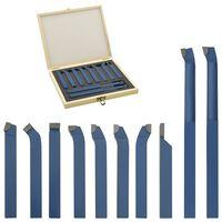 vidaXL 11-tlg. Drehwerkzeug-Set Hartmetall 10x10 mm P30