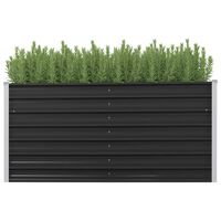 vidaXL Garten-Hochbeet Anthrazit 160 x 40 x 77 cm Verzinkter Stahl