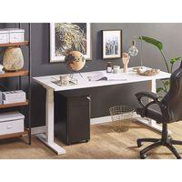 Schreibtisch weiß 180 x 80 cm elektrisch höhenverstellbar UPLIFT II