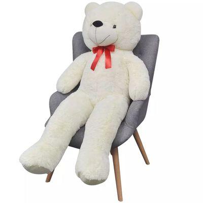 vidaXL Weicher XXL-Plüsch-Teddybär Weiß 135 cm