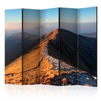 5-teiliges Paravent - Mountain footpath, Tatras II  - 225x172 cm