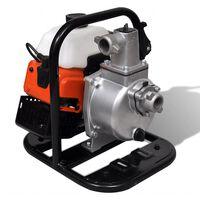 vidaXL Wasserpumpe Benzin 2 Takt 1,2 kW 0,95 L