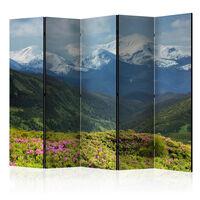 5-teiliges Paravent - Spring mountain landscape II  - 225x172 cm