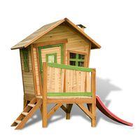 AXI Kinder-Holzspielhaus mit Rutsche Robin