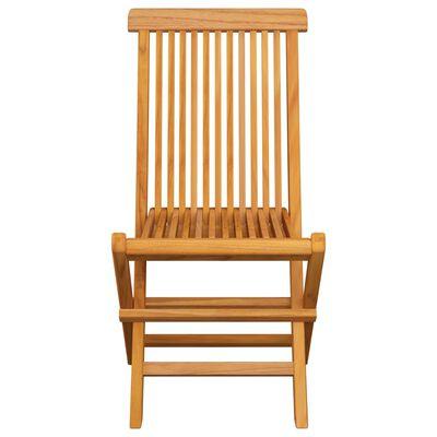vidaXL Gartenstühle mit Roten Kissen 6 Stk. Massivholz Teak , Red