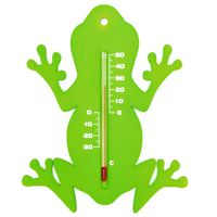 Nature Garten Wandthermometer Froschform Grün