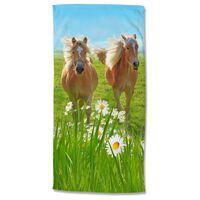 Good Morning Strandtuch HORSES 75x150 cm Mehrfarbig