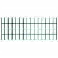 vidaXL 2D Gartenzaun-Elemente 2,008x0,83 m Gesamtlänge 12 m Grün
