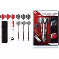 XQmax Darts 30-tlg. Darts-Set Vernickelt 18 g Weiche Spitzen QD7000690