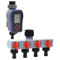 vidaXL Digitale Bewässerungsuhr mit Einzelauslauf und Wasserverteiler