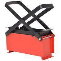 vidaXL Papierbrikettpresse Stahl 34 x 14 x 14 cm Schwarz und Rot