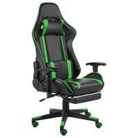 vidaXL Gaming-Stuhl mit Fußstütze Drehbar Grün PVC
