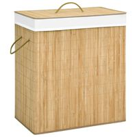 vidaXL Bambus-Wäschekorb 100 L