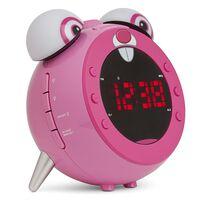 Nikkei Kinder Projektionsuhr mit UKW-Radio NR280PRABBIT Rosa