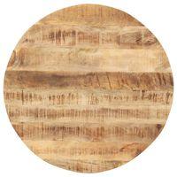 vidaXL Tischplatte Massivholz Mango Rund 15-16 mm 80 cm