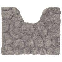Sealskin WC-Vorleger Pebbles Baumwolle 50x60 cm Grau