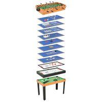 vidaXL 15-in-1 Multigame-Tisch 121×61×82 cm Ahorn