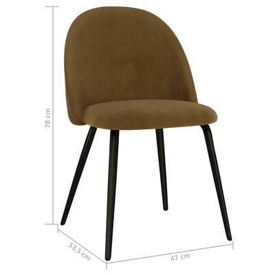 vidaXL Esszimmerstühle 6 Stk. Braun Stoff