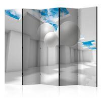 5-teiliges Paravent - Architecture of the Future II  - 225x172 cm