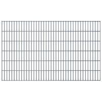 vidaXL 2D Gartenzaun-Elemente 2,008x1,23 m Gesamtlänge 22 m Grau