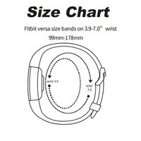 Fitbit Versa Armband Silikon Glitter Schwarz