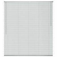 vidaXL Fensterjalousien Aluminium 80x130 cm Silber