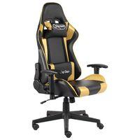 vidaXL Gaming-Stuhl Drehbar Golden PVC