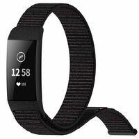 Fitbit Charge 3/4 Armband Nylon Schwarz