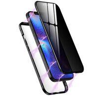 Iphone 12 Pro Max Magnetische Handyhülle Mit Sichtschutz Schwarz