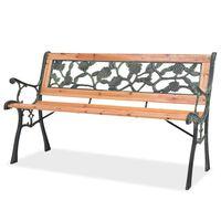 vidaXL Gartenbank 122 cm Holz