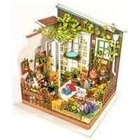 Robotime Miniatur-Modellbausatz Miller's Garden mit LED-Licht