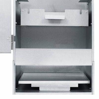 vidaXL Räucherofen mit 1 kg Hackschnitzel 44,5×29×124 cm