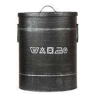 LABEL51 Wäschebehälter 32x32x43 cm M Antik-Schwarz